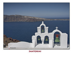 Grce  Santorini Greece (beluga 7) Tags: voyage travel church canon bell santorini greece caldera grce oia cloche canon40d