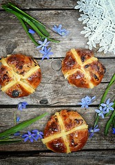 cross buns (Zoryanchik) Tags: food brown white holiday hot cake festival vertical fruit easter bread dessert religious basket cross symbol sweet cinnamon background sticky traditional religion spice culture plate fresh christian celebration homemade butter bakery buns snack grapes british treat christianity dried tradition celebrate bun raisin snowdrop symbolic baked glazed currant spiced sultana
