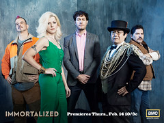 Immortalized, new unscripted original series, Premieres February 14, 2013. Season 1, Cast photos (Dr. Takeshi Yamada is the second from the right.),  Copyright  2010-2013 AMC Network Entertainment LLC. All rights reserved. (Takeshi Yamada's IMMORTALIZED (Part 2)) Tags: sculpture newyork celebrity art japan brooklyn painting coneyisland star tv artist dragon dinosaur famous georgebush gothic victorian buddhism taxidermy charlesdarwin vogue cnn tuxedo tophat osaka oddities mermaid amc salvadordali benjaminfranklin billclinton billgates mythology renaissance abrahamlincoln ronaldreagan sideshow freaks jackalope globalwarming waltdisney cabinetofcuriosities kunstkammer pablopicasso steampunk wunderkammer damienhirst cryptozoology alberteinstein barackobama rushlimbaugh gaff stevenspielberg leonardodavinci fijimermaid realityshow cryptid michaelbloomberg strangeanimals seanhannity joebiden immortalized michaelsavage wildlifeconservation takeshiyamada museumofworldwonders roguetaxidermy searabbit lauraingraham immortalizer marklevin spacealienskull stephenhawkings
