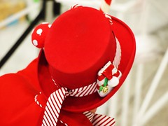 For Your Entertainment (lindscatt) Tags: christmas xmas red hat mall festive outfit colorful bright seasonal redhat frombehind ribbon colourful crimbo christmassy chrimbo xmassy festiveseason jubileeplace matchingoutfit mallentertainment
