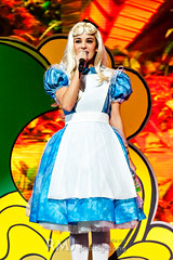 Alizée as Alice in Wonderland