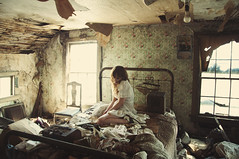 (yyellowbird) Tags: house selfportrait abandoned girl illinois bedroom lolita cari