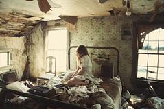 (yyellowbird) Tags: house selfportrait abandoned girl illinois bedroom lolita cari