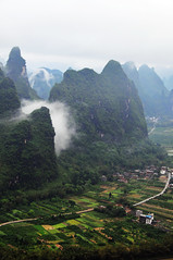 Limestone hills & village 相公山 (MelindaChan ^..^) Tags: china cloud house mist tree nature weather rock fog rural river village cloudy guilin hill hills mel limestone layers melinda 漓江 shape karst lijiang guangxi 桂林 topography landform 廣西 石灰岩 countrysdie 喀斯特地形 chanmelmel melindachan 相公山