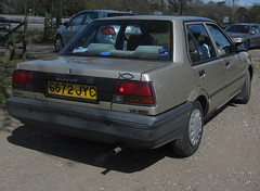 1989 NISSAN SUNNY GS (Yugo Lada) Tags: old cars car gold photo nice driving nissan sunny retro vehicle 1989 rare gs g672jyc