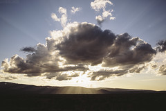 The Sun Over Prather Ranch [03.29.13] (Andrew H Wagner   AHWagner Photo) Tags: california ranch ca sunset sky sun sunlight mountains nature beautiful field clouds forest 35mm canon landscape eos pretty desert farm f14 scenic farmland national valley flare rays norcal westcoast klamath pratherranch highway97 prather 35l f14l klamathnationalforest 5dmkiii 5dmk3 5d3 5dmarkiii 5dmark3