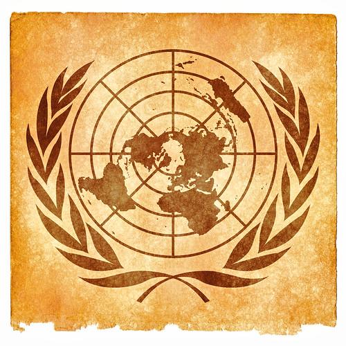 United Nations Grunge Emblem - Sepia