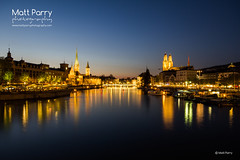 Zurich (Matt Parry) Tags: longexposure lake night photography switzerland nightlights zurich sigma 1020 nightfall zrichsee grossmnster limmatriver canon60d fraumnsterchurch mattparry