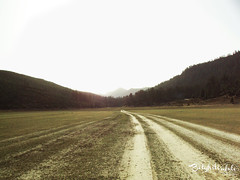 House of raising sun (.: belghiti :.) Tags: road light sun mountains truth path hills plain raising