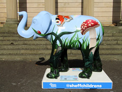 #39 Bugsy by Liz Hall, Herd of Sheffield 2016 (Dave_Johnson) Tags: westonparkmuseum westonpark park bugsy lizhall butterfly mushroom toadstool herdofsheffield herd elephant elephants art streetart sculpture sheffchildrens sheffieldchildrenshospitalcharity sheffieldchildrenshospital childrenshospitalcharity childrenshospital sheffield southyorkshire