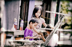 Game (isabelle.giral) Tags: laos children pentax jeux game
