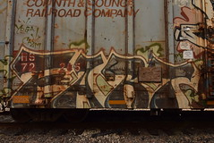 FART (TheGraffitiHunters) Tags: graffiti graff spray paint street art colorful freight train tracks benching benched fart boxcar
