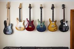 Guitar Wall (Nada Mal) Tags: prs gibson fender yamaha pacifica 112 513 custom24 p22 artist package experienceprs studio wall pbass paulreedsmith