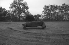 After All I've Done For You (blueteeth) Tags: couch dumped discarded monochrome blackwhite tiretracks