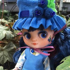 Blueberry Muffin... (gemini angel's art and dolls) Tags: blueberry blueberrymuffin strawberryshortcake diy middie blythe doll miniature