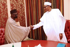 President Buhari receives in audience Pastor Tunde Bakare in Statehouse
