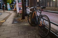 Bicycle (kmmanaka) Tags: japan nagasaki evening settingsun bicycle tram