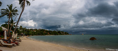 Koh Samui, Thailand (wymi_90) Tags: koh samui landscape thailand storm weather sky clouds beach ocean travel olympus raw panorama