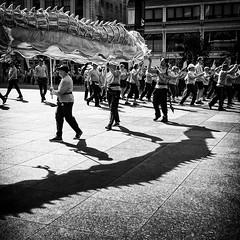 Dragon dance (GBaker63) Tags: toronto people street bw dragon dance shadow canon powershots100