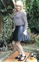 Popular Style (Amber :-)) Tags: black sunray mini skirt tgirl tranvestite crossdressing