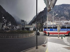 Mirror life (pablokhlebnikov1) Tags: way ways art street flickrheroes mobileshot madewithiphone reality otherreality vscocam vsco forest cloudslook mountains andorra bus reflecting reflection mirror mirrors