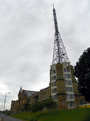 GOC Ally Pally 086: Alexandra Palace (Peter O'Connor aka anemoneprojectors) Tags: 2016 aerial alexandrapalace antenna architecture building england gayoutdoorclub goc gocallypally gochertfordshire grade2listed grade2listedbuilding gradeiilisted gradeiilistedbuilding gradetwo gradetwolisted gradetwolistedbuilding greaterlondon haringey hertfordshiregoc kodak kodakeasysharez981 listed listedbuilding london londonboroughofharingey londonn22 mast outdoor tower venue woodgreen z981