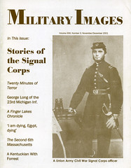 Military Images magazine cover, November/December 2001 (militaryimages) Tags: militaryimages magazine findingaid archive backissue photography history civilwar mexicanwar spanishamericanwar worldwari indianwar soldier sailor military us america american unitedstates veteran infantry cavalry artillery heavyartillery navy marine union confederate yankee rebel roach matcher neville coddington mi citizensoldier uniform weapon photographer tintype ambrotype cartedevisite stereoview albumen daguerreotype hardplate ruby