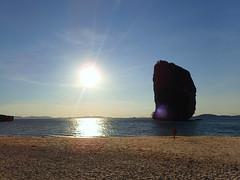 Rock The Island (stardex) Tags: sea beach rock sunset sun sunlight krabi thailand sand podaisland