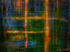 reflections (Sonja Parfitt) Tags: wood water posts layered