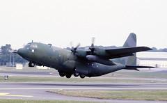 64-0538. US Air Force Lockheed C-130H Hercules (Ayronautica) Tags: aviation military scanned 1989 july internationalairtattoo riat airshow egva fairford lockheedc130hhercules usaf unitedstatesairforce 640538 ayronautica