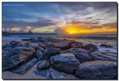 Ocean Inlet Park Sunrise (Fraggle Red) Tags: florida palmbeachco boyntonbeach boyntonbeachinlet oceaninletpark inlet morning sunrise sun rocks clouds pumphouse hdr 7exp dphdr adobelightroomcc2015 adobephotoshopcc20155 canoneos5dmarkiii 5diii 5d3 canonef1635mmf28liiusm