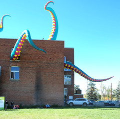 Trouble Overhead (Sherlock77 (James)) Tags: calgary beakerhead artinstallation building people thearts art tentacles octopus arms limbs reachingout odd humourous alexandracentresocietycalgary inglewood wow artwork