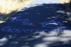 Fuck the Government (dsgetch) Tags: fuck government graffiti street art bike path autzen stadium eugene sprinfield eugenespringfield eugeneoregon