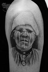 Selknam (Onas) Indian aboriginal from Chile (healed pic) tattoo (Miguel Angel tattoo) Tags: miguel miguelangeltattoo maik latinangelstudio latinangel wwwlatinangelcouk richmond richmondtattoo richmonndhill upon thames richmonduponthames westlondon tattoo tattoos tattooedgirl tattooartist tattooed tattooedskin tattooedguy arm artist leg back portrait pocketwatch pocketclock victorian filigree roses rose redrose peony chrysanthemum angel angels dayofthedead dayofthedeath whatercolour dots dot dotwork henna tribal skull skeleton skullgirl skulls sugarskull humanskull mountains michael jackson michaeljackson king hamsa twickenham chiswick chelsea fulham indian selknam marilyn marilynmonroe marilynmonroeportrait padlock floral heart feathers bath bat
