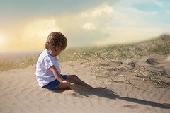 sands of time (Windermere Images) Tags: dream grass boy son sunset dunes sky holidays wales porthcawl child sad summer fun love time sand