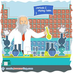 Mendeleev - Webcomic about web developers, programmers and browsers (browserling) Tags: cartoon comic webcomic joke browser browserling crossbrowsertesting webdeveloper webdesigner webprogrammer periodictable periodic mendeleev dmitrymendeleev dmitrimendeleev css cascadingstylesheet display table chemistry chemist chemicalelements elements groups webdev developer designer programmer geek nerd internet web cartoons comics webcomics jokes browsers webdevelopers