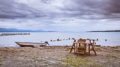 WILL YOU TAKE A CHAIR ? (Jeton Bajrami) Tags: chair boat chaise bateau sky ciel nuageux cloud cloudy rain pluie lake lac prverenges lausanne switzerland vaud perfect art 2016 sony alpha77ii alpha77mkii mkii a77ii a77mkii