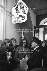 GAY LIBERATION FRONT 1971  DEMO PROTEST LONDON UK (Homer Sykes) Tags: gayrights gay gays london people person protesting protester demonstration demo demonstrate archivestock 1970s 70s gayliberationfront uk british english england britain myref14a307 1971 gaycommunity gbr