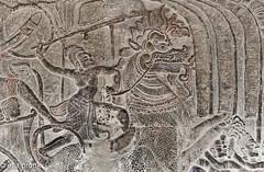 2013-01-20 Angkor Wat, Hindu,(Vishnu)12th century DSC3500 (ellapronkraft.) Tags: angkorwat basrelief cambodja hinduvishnu khmerartists