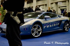 Police Lamborghini. (039/365) (Paolo Ilardi) Tags: auto torino nikon gun expo police moto turin lamborghini pistola 113 polizia retrò automotoretrò 2013 fondina