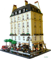 Avenue Saint-Jacques (snaillad) Tags: street old city paris france kitchen car shop corner vintage bathroom living town cafe bedroom haussmann lego metro room grand scene stairwell avenue dentist ville moc