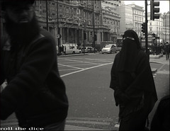 `809 (roll the dice) Tags: uk portrait people urban woman black sexy london art classic dark underground beard hotel funny couple raw veiled mask candid muslim islam religion tube hijab strangers streetphotography knightsbridge collection arab unknown wife brave mad niqab burqa unaware brompton sw1 roundel londonist chador kensingtonchelsea sw7