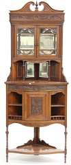 52. Aesthetic Period English Corner Cabinet