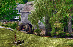 The Mill in Sandwich on Cape Cod (h_roach) Tags: travel summer mill capecod massachusetts newengland sandwich explore historical waterpump handpump textureart