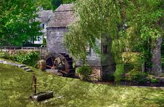 The Mill in Sandwich on Cape Cod (h_roach) Tags: travel summer mill capecod massachusetts newengland sandwich explore historical waterpump handpump textureart