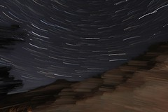 Star trails outside of Las vegas NM with a windy camera (CaptDanger) Tags: new las vegas tower stars mexico star hotel ruins long exposure skies bricks north montezuma nm startrails monetzuma startrailsexe