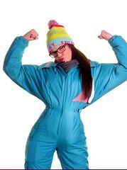 igloovixen025 (onesieworld) Tags: girls snow ski sexy fashion photomanipulation one shiny gimp retro suit 80s piece nylon catsuit jumpsuit onesie