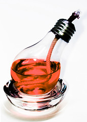 930-03 (Joe-Lynn Design) Tags: red white glass lightbulb photomanipulation oillamp