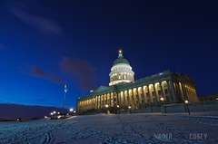 Capitol Blue (N+C Photo) Tags: world life travel viaje winter sky usa holiday snow building history tourism architecture night clouds america photography noche design utah us photo arquitectura nikon wasatch state image nacht earth explorer culture structure best tokina adventure explore vision capitol saltlakecity vida cielo architektur government americana civilization mormon slc visual yankee legislature lds vacaciones mundo architettura learn hemel architectuur global discover aventura tierra deseret d300 travel1 descubrir mudial 1116f28 mygearandme