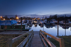 Farndon Marina (djshoo) Tags: longexposure water clouds marina reflections boats lowlight nikon colours jetty bluehour newark nottinghamshire eveninglight wideanglelens d90 sigma1020 leefilters nikond90